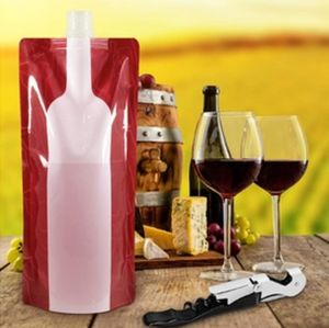 WINE ON THE RUN REUSABLE & FOLDABLE WINE FLASK